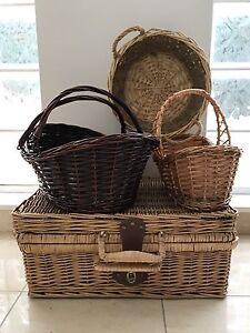 Collection of cane baskets New Farm Brisbane North East Preview