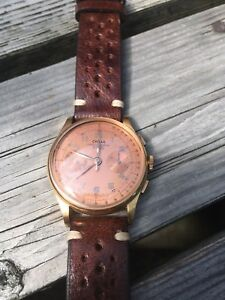 Vintage 18k Gold Chronograph Watch