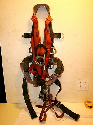 Klein Full Climbing Harness 6 D Rings Size X Large Tool Carry Lineman Arborist