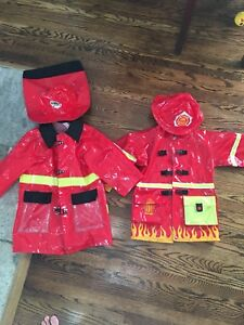Firefighters Halloween costume / raincoat
