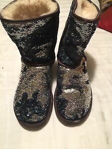 Authentic Blue Sequin Uggs - Size 8
