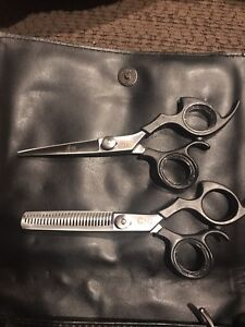Chi scissor and shear set with leather bag and razor