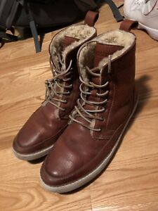 BLACKSTONE GENUINE LEATHER + LAMBSKIN WINTER BOOTS SIZE 10.5