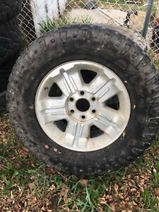 Chevy rims and tires 6 bolt