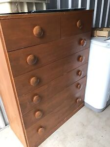 Solid  timber chest of drawers-Free Everton Park Brisbane North West Preview