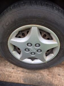5x100 wheels with good tires