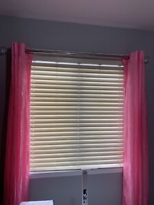 Pair of pink sheer curtains in excellent condition