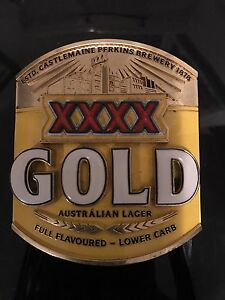 Beer Tap Handle XXXX Gold Badge Carrara Gold Coast City Preview
