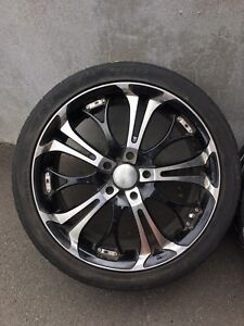 18 inch HD wheels spinout with Toyo all-season tires