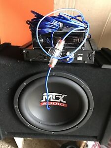 MTX 10inch Sub and amp
