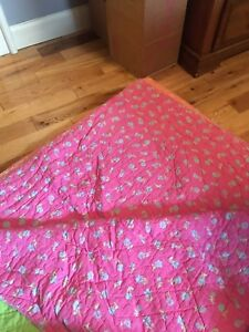 Girls twin reversible quilt
