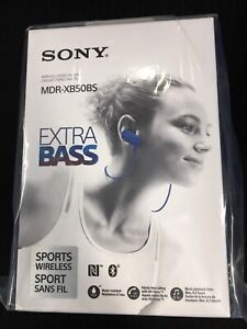 Sony MDR-XB50BS wireless stereo headset.