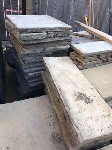 Valencia Precast 5 piece patio stone set