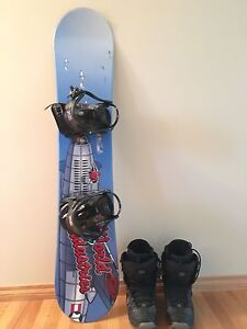 SNOWBOARD $110, BOOTS $25
