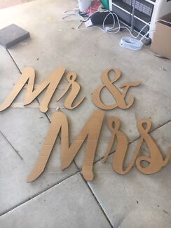 Mr Mrs Wedding Table Sign Miscellaneous Goods Gumtree
