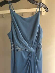 Steel Blue Evening Dress