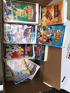 Disney VHS tapes available