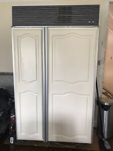 "Sub-Zero built in fridge freezer side by side. 48"" x 84"""
