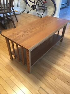 Solid Oak Coffee Table (Arts and Crafts Design)