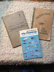 3 Old Fly Tying & Fishing Books