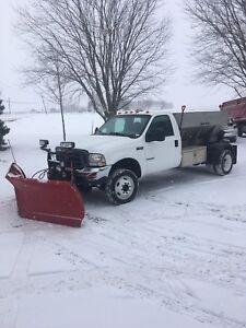 Ford f-550 saleuse pelle neige