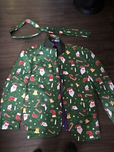 Adult men's funny Christmas suit