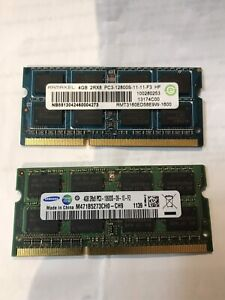 2 x 4GB Laptop Ram for Sale
