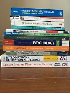 NSCC Therapeutic Recreation Texts year 1 & 2 for $750