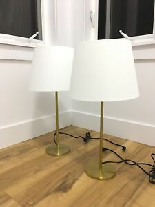 Recently purchased 2 gold table lamps!