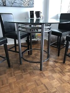 Bar height kitchen table and chairs