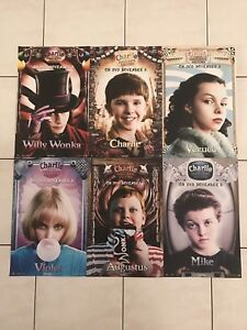 CHARLIE AND THE CHOCOLATE FACTORY PROMOTIONAL MINI POSTERS