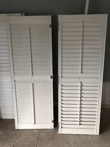 California shutters.  All wood