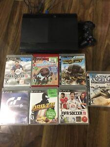 PS3 - Super Slim - 7 Games