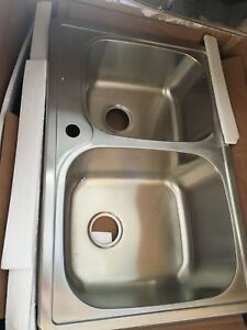 Le Nova double drop in stainless steel sink