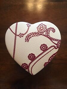 Pandora Leather Heart-Shaped Jewelry Box Case Two-Tiered
