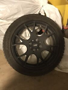 Winter tires 195/45/16 with mags and weather tech