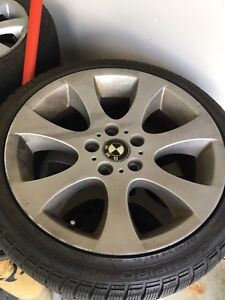 BMW wheels with snow tires
