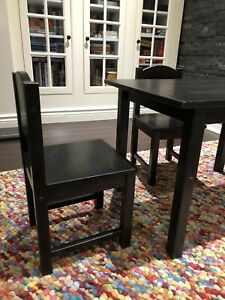 SUNDVIK IKEA children's table and 2 chairs