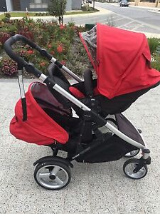 Britax Steelcraft Strider Compact double pram and accessories Wellard Kwinana Area Preview