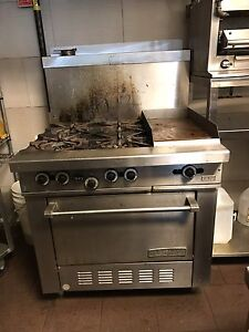 Commercial grill and salamander
