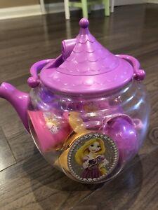 Princess tea pot set with cups, saucers, spoons!