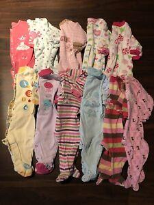 LOT 11 Pyjamas 9 mois fille Pekkle, Carters