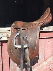 Two older English saddles