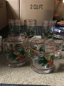 Christmas glass cups