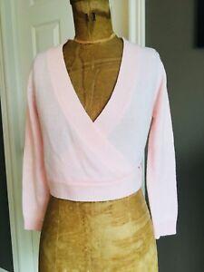 Pink Bloch Knit Ballet / Dance Wrap Around Sweater