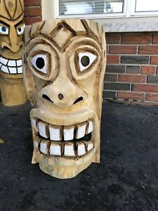 Tiki Chainsaw Carving