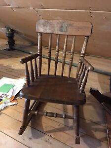 Vintage children's rocking chair