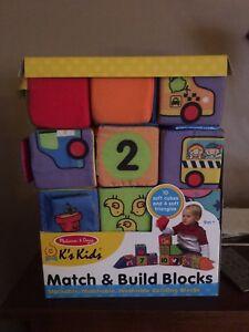 Melissa and Doug Match & Build Blocks