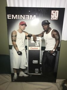 Eminem and 50 cent poster