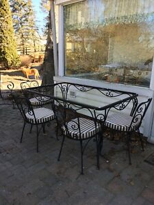 Outdoor wrought iron patio set